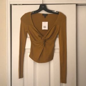 Topshop Twist front ribbed sweater